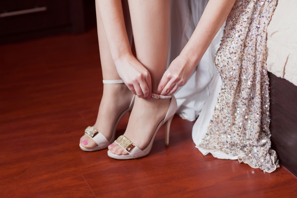 bride dresses wedding shoes