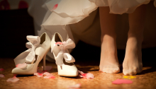 shoes of bride